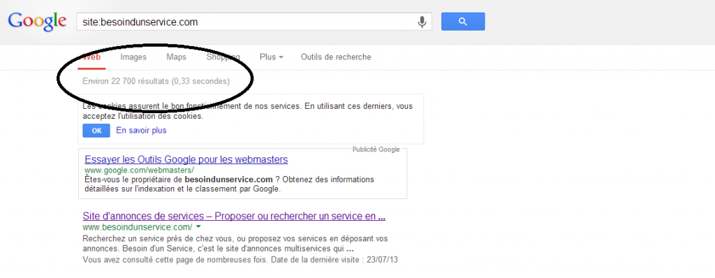 comment indexer liens sur google